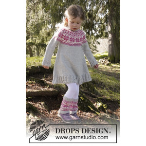 Forest Dance by DROPS Design - Kjole Strikkekit str. 3/4 - 11/12 år