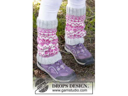 Image of   Forest Dance Legwarmers by DROPS Design - Benvarmere Strikkeopskrift s