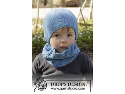 Image of   Bluebeard by DROPS Design - Hue og Hals Strikkeopskrift str. 12/18 mdr