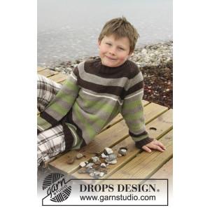 Sticks and Stones by DROPS Design - Bluse Strikkeopskrift str. 3/4 - 13/14 år