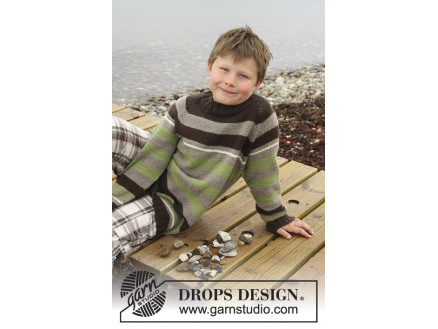 Image of   Sticks and Stones by DROPS Design - Bluse Strikkeopskrift str. 3/4 - 1