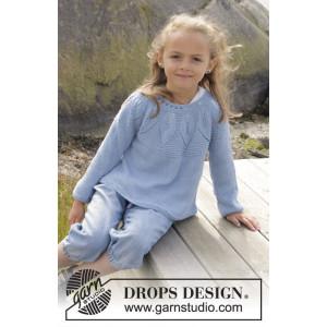 Sweet Bay by DROPS Design - Bluse Strikkeopskrift str. 3/4 - 13/14 år