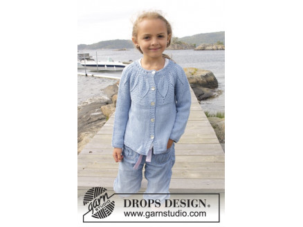 Image of   Sweet Bay Jacket by DROPS Design - Jakke Strikkeopskrift str. 3/4 - 13