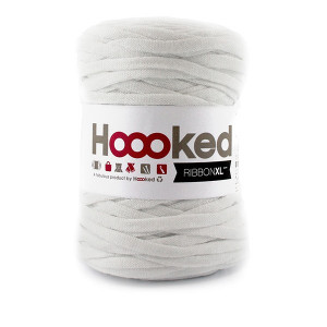 Hoooked Ribbon XL Stofgarn Unicolor 50 Hvid