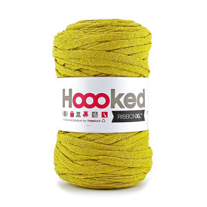 Hoooked Ribbon XL Stofgarn Unicolor SP5 Okker