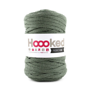 Hoooked Ribbon XL Stofgarn Unicolor SP6 Armygrøn