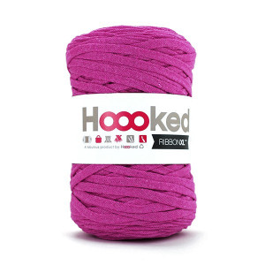 Hoooked Ribbon XL Stofgarn Unicolor SP4 Blomme