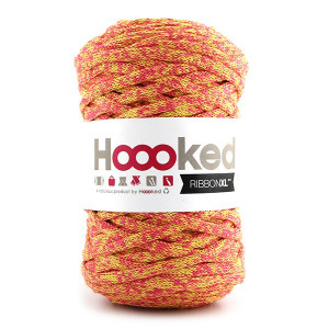 Hoooked Ribbon XL Stofgarn Unicolor 107 Fiesta Fairytale
