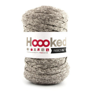 Hoooked Ribbon XL Stofgarn Print 108 Desert Taupe