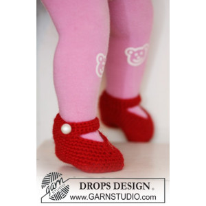Rosy Toes by DROPS Design - Tøfler Hæklekit str. 1/3 mdr - 3/4 år