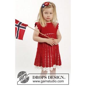 Princess Matilde by DROPS Design - Kjole og Hårbånd Hæklekit str. 2 år - 9/10 år