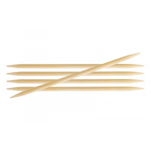 Image of   KnitPro Bamboo Strømpepinde Bambus 20cm 5,50mm / 7.9in US9