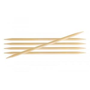 Image of   KnitPro Bamboo Strømpepinde Bambus 20cm 6,00mm / 7.9in US10
