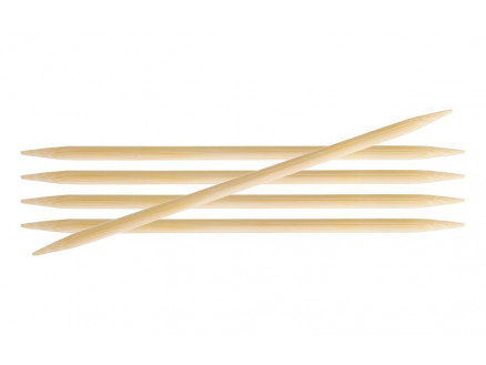 Image of   KnitPro Bamboo Strømpepinde Bambus 20cm 7,00mm / 7.9in US10¾