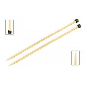 KnitPro Bamboo Strikkepinde / Jumperpinde Bambus 25cm 2,50mm / 9.8in U