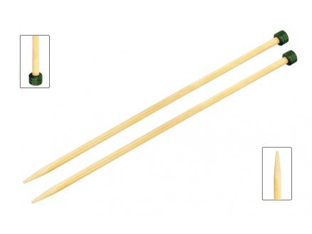 Image of   KnitPro Bamboo Strikkepinde / Jumperpinde Bambus 25cm 9,00mm / 9.8in U