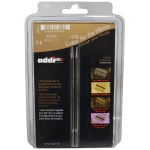 Image of   Addi Click Turbo Udskiftelige Rundpinde Messing 13cm 4,50mm US7