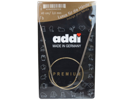 Addi Turbo Rundpinde Messing 40cm 3,00mm / 15.7in Us2½