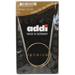 Addi Turbo Rundpinde Messing 40cm 4,00mm / 15.7in US6