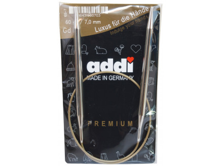 Image of   Addi Turbo Rundpinde Messing 60cm 7,00mm / 23.6in US10¾
