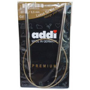 Addi Turbo Rundpinde Messing 60cm 6,50mm / 23.6in US10½