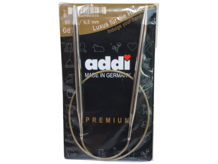 Image of   Addi Turbo Rundpinde Messing 60cm 6,50mm / 23.6in US10½