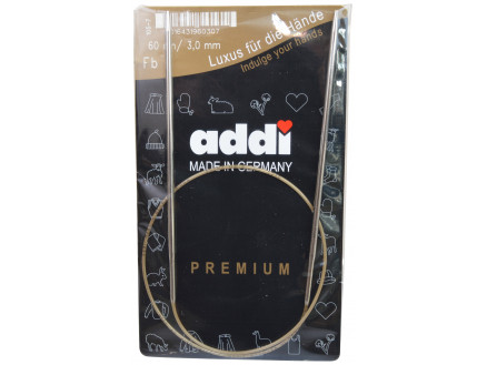 Addi Turbo Rundpinde Messing 60cm 3,00mm / 23.6in Us2½