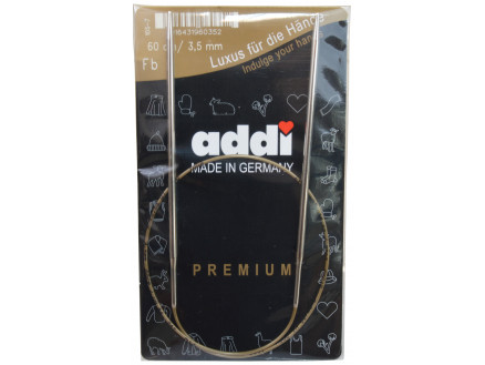 Addi Turbo Rundpinde Messing 60cm 3,50mm / 23.6in Us4