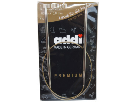 Image of   Addi Turbo Rundpinde Messing 60cm 5,00mm / 23.6in US8