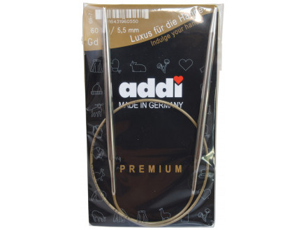 Addi Turbo Rundpinde Messing 60cm 5,50mm / 23.6in Us9