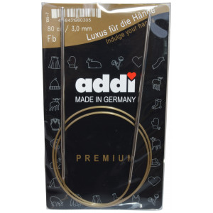 Image of   Addi Turbo Rundpinde Messing 80cm 3,00mm / 31.5in US2½