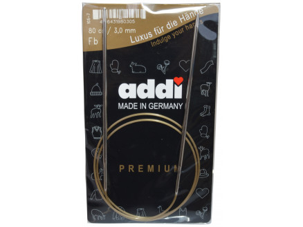 Addi Turbo Rundpinde Messing 80cm 3,00mm / 31.5in Us2½