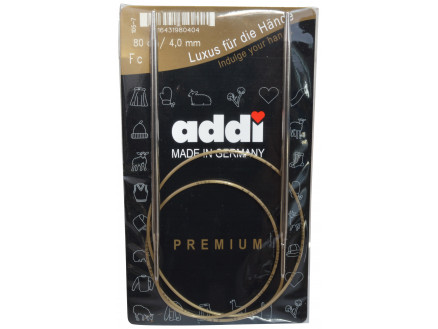 Addi Turbo Rundpinde Messing 80cm 4,00mm / 31.5in Us6