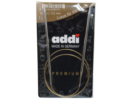 Image of   Addi Turbo Rundpinde Messing 80cm 4,50mm / 31.5in US7
