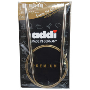 Image of   Addi Turbo Rundpinde Messing 80cm 6,50mm / 31.5in US10½