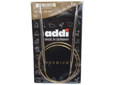 Addi Turbo Rundpinde Messing 80cm 5,50mm / 31.5in Us9