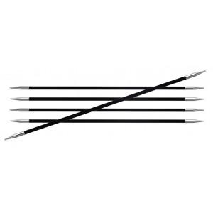 KnitPro Karbonz Strømpepinde Kulfiber 20cm 1,50mm / US000