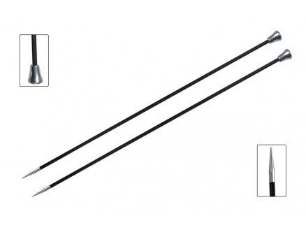Knitpro Karbonz Strikkepinde / Jumperpinde Kulfiber 25cm 3,75mm / 9.8i