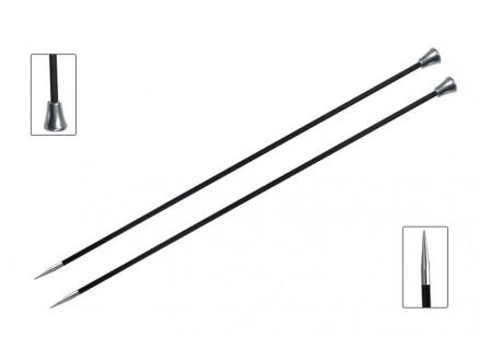 Knitpro Karbonz Strikkepinde / Jumperpinde Kulfiber 25cm 5,50mm / 9.8i