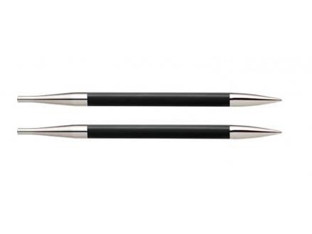 Knitpro Karbonz Korte Udskiftelige Rundpinde Kulfiber 9cm 6,00mm Us10