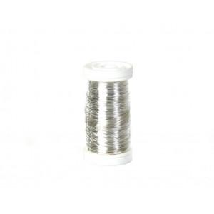 Myrtetråd / Blomstertråd Sølv 0,30mm 100 g