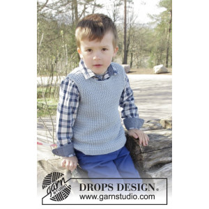 Vest is Best! by DROPS Design - Bluse Strikkeopskrift str. 2 - 11/12 år