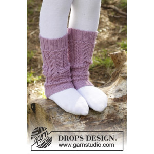 Raspberry Cream by DROPS Design - Benvarmere Strikkeopskrift 24 cm