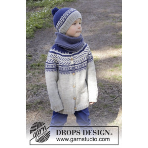 Little Adventure Jacket by DROPS Design - Jakke Strikkeopskrift str. 3/4 - 11/12 år
