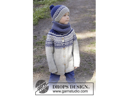 Image of   Little Adventure Jacket by DROPS Design - Jakke Strikkeopskrift str. 3