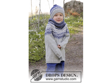 Image of   Little Adventure by DROPS Design - Bluse Strikkeopskrift str. 3/4 - 11