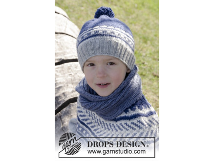 Image of   Little Adventure Set by DROPS Design - Hue og hals Strikkeopskrift str