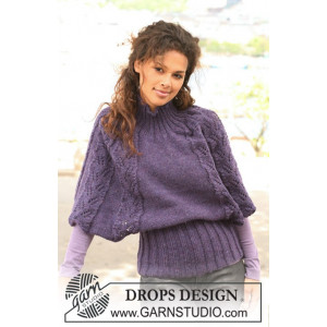 Warm Winter Wings by DROPS Design - Poncho Strikkeopskrift str S - XXXL