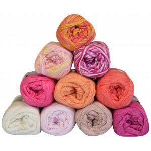 Mayflower Cotton 8/4 Garnpakke 10 farver Rosa nuancer - 10 stk