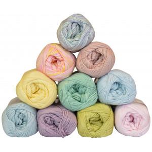 Mayflower Cotton 8/4 Garnpakke 10 farver Pastel - 10 stk
